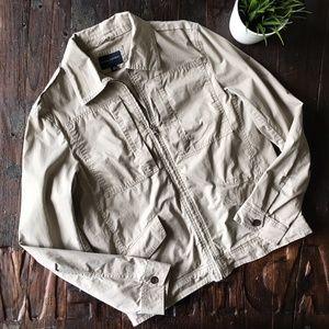 BANANA REPUBLIC Khaki Lightweight Field Jacket MED